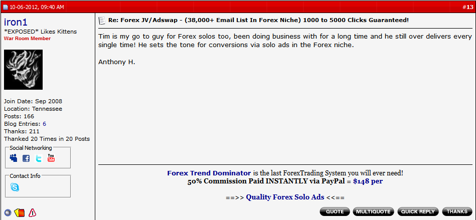 #1 Forex Solo Ads